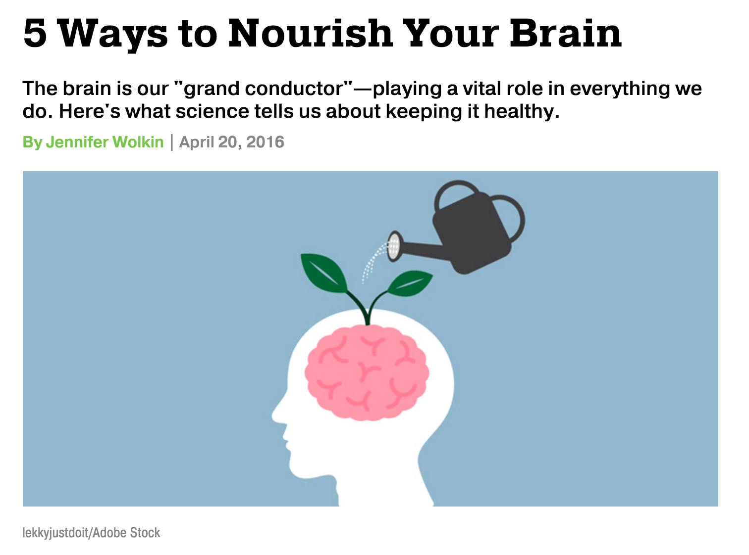 Repost: 5 Ways to Nourish Your Brain