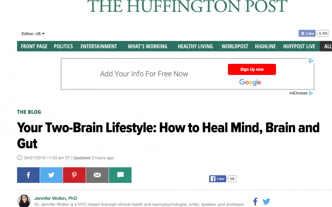 Repost: Your Two-Brain Lifestyle: How to Heal Mind, Brain and Gut