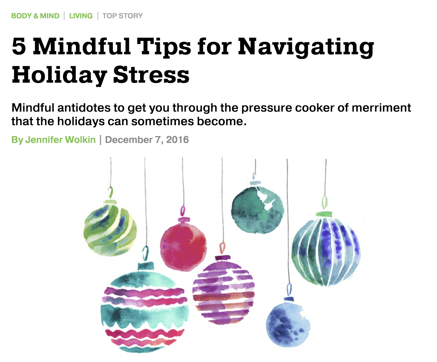 Repost: 5 Mindful Tips for Navigating Holiday Stress