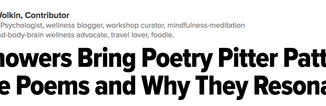 Repost: April Showers Bring Poetry Pitter Patters: My Favorite Poems and Why They Resonate