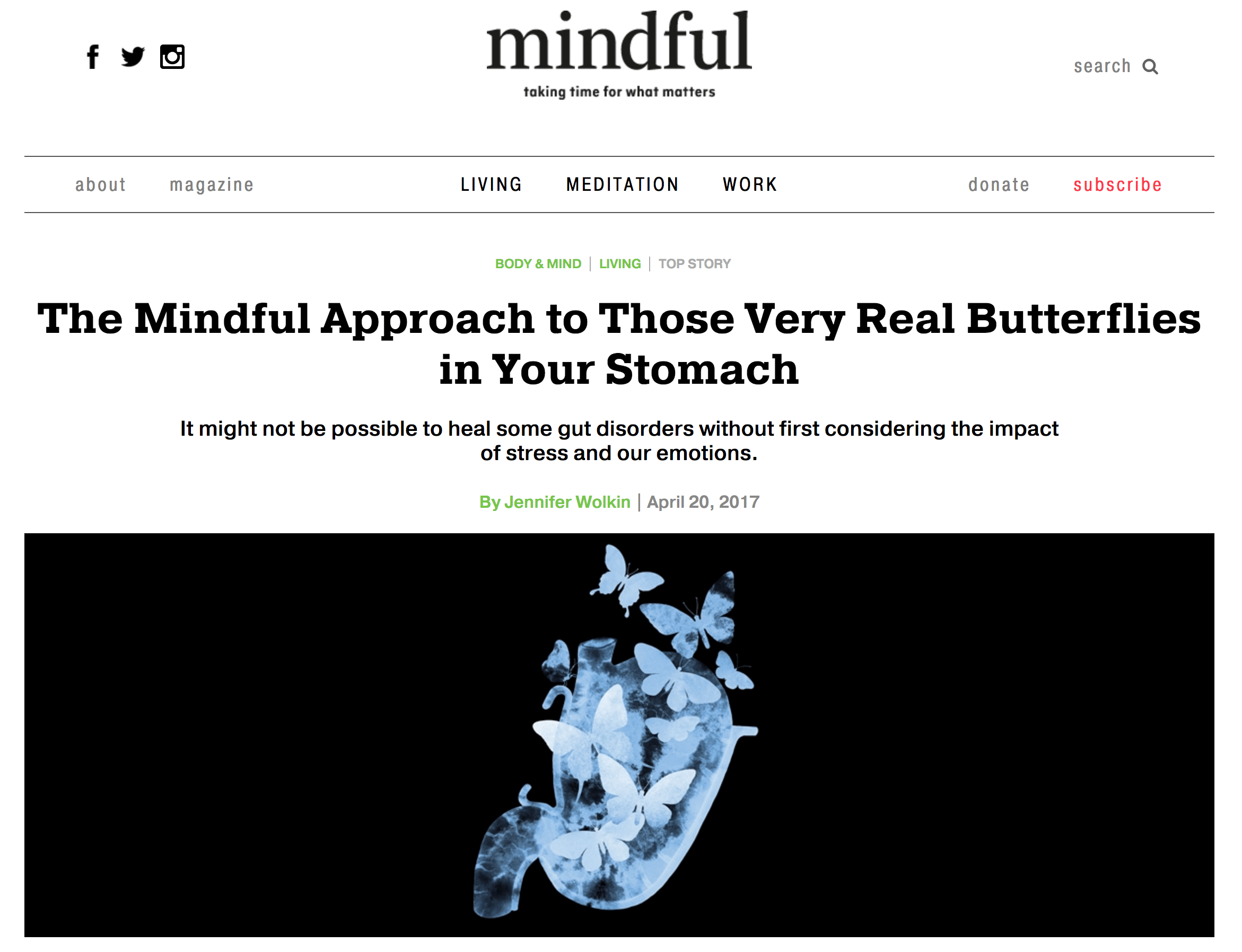 Repost: The Mindful Approach to Those Very Real Butterflies in Your Stomach