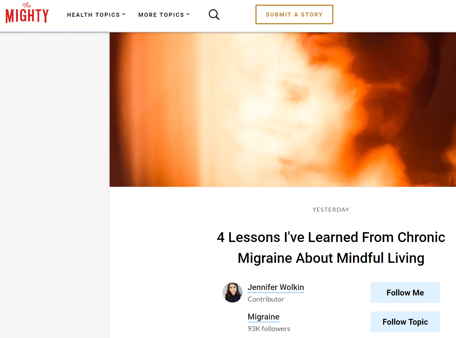 Repost: 4 Lessons I've Learned From Chronic Migraine About Mindful Living